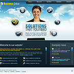Sky Business CMS flash template