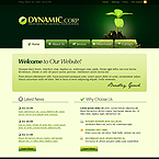 Green Ideas CMS business flash template