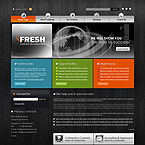 Fresh Business CMS flash template