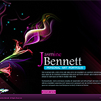 Exquisite violet flash XML template