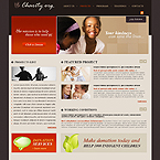 Charity Business CMS flash template