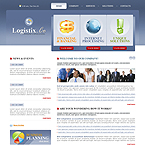 Logistix Business CMS flash template