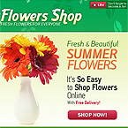 Flower shop facebook template