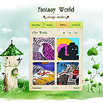Fantasy world jQuery Template