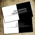 B&W business card template