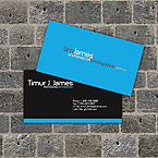 Blue photo business card template
