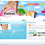 Colour works studio XML gallery flash template