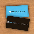 Future electronics business card template