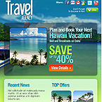 Travel agency facebook template