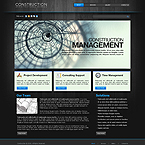 Construction company 3D XML gallery website template