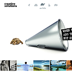 Creative solutions FlashMoto CMS template