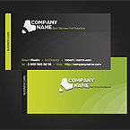 Green Co business card template