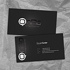 Pure black business card template