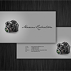 Exquisite photo business card template