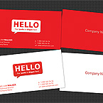 Hello world business card template