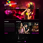 Dance club XML gallery flash template