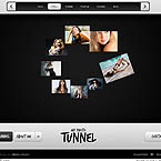 Photo tunnel FlashMoto CMS template