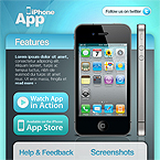 5 colors iphone apps Facebook template