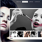 Photo portfolio CMS flash template