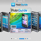 Mobile guide Flash book CMS template
