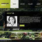 Flash CMS landscape design template