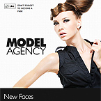 Model agency static facebook template
