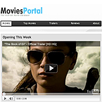 Movies portal facebook template