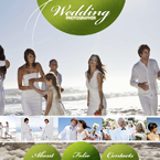 Wedding photographer flash CMS template