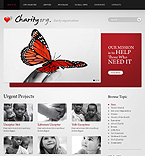 Charity organization wordpress theme