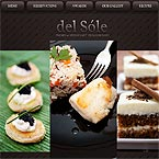 Del Sole flash restaurant CMS