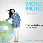 Moto flash CMS template