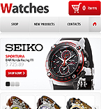 Watches shop facebook template
