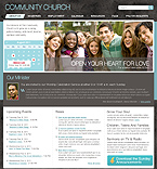 Community church joomla template
