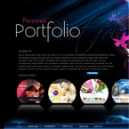 Personal Portfolio Flash XML template