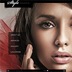Hair Salon Flash Website Template