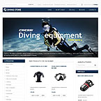 Diving Gear Oscommerce Template