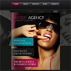 Model Agency Jquery FlipBook Template