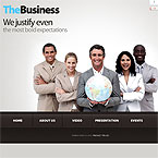 Corporate Business Flash CMS Template