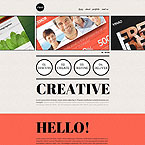 Creative One Page Web Template