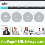 Clean Business One Page Resposive Template