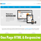 InDesign One Page HTML Responsive Site