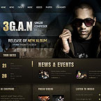 Singer Composer Dj Website Template