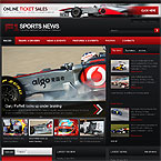 F1 Sports News Joomla Template