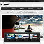 Shipping Company Website Template