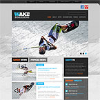 Wakeboarding Sport Site Template