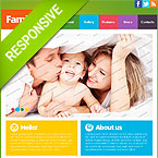 Family Responsive Website Template