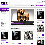 Music Store Template For Prestashop