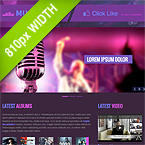 Music Band 810px Facebook Template