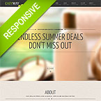 Spa Salon Responsive One Page Template