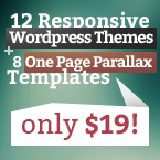 12 WP Themes + 8 One Page Templates
